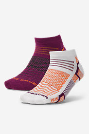 Women's Active Pro CoolMax Low Profile Socks - 2 Pack in Purple