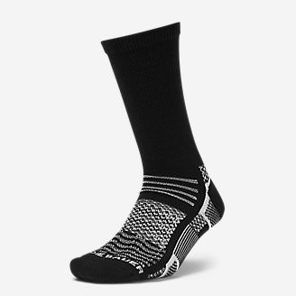 Women's Active Pro COOLMAX Crew Socks in Black