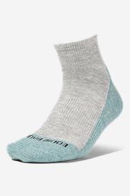 Women's COOLMAX® Trail Quarter Crew Socks in Blue