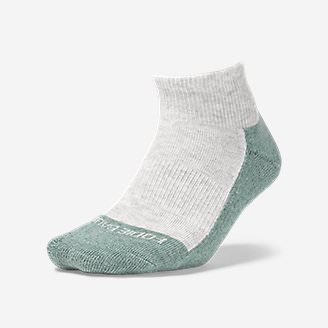 Women's COOLMAX® Trail Quarter Crew Socks in Green