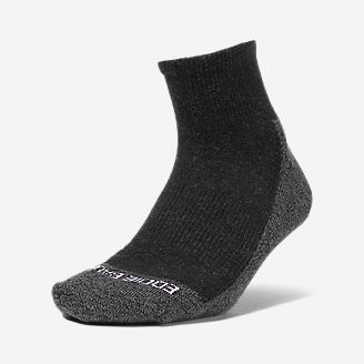 Women's COOLMAX Trail Quarter Crew Socks in Gray