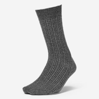 Women's Essential Crew Socks in Gray