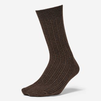 Women's Essential Crew Socks in Brown