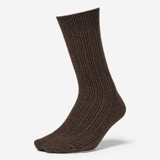 Women's Essential Crew Socks in Brown