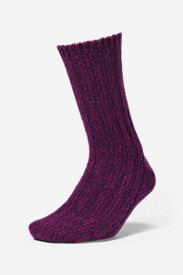 Women's Crew Socks in Purple
