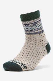 Women's Fireside Lounge Socks in Green
