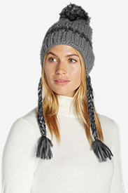 Women's Larkspur Earflap Beanie in Black