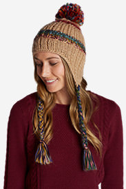 Women's Larkspur Earflap Beanie in White