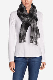 Women's Stine's Favorite Flannel Woven Scarf in Gray