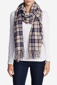 Women's Stine's Favorite Flannel Woven Scarf in Beige