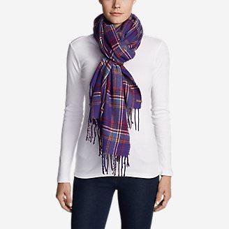 Women's Stine's Favorite Flannel Woven Scarf in Purple