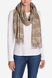 Women's Stine's Favorite Flannel Woven Scarf in White