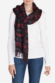 Women's Stine's Favorite Flannel Woven Scarf in Red