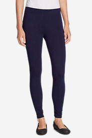 Women's Classic French Terry Leggings in Blue