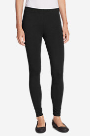 Women's Classic French Terry Leggings in Black