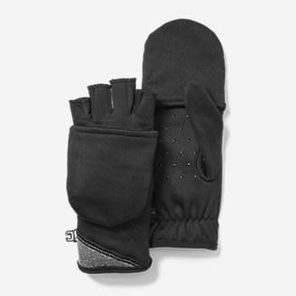 Women's Crossover Fleece Convertible Gloves in Black