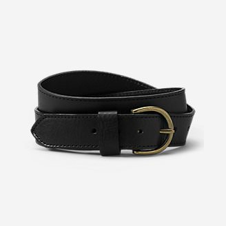 Women's Pebbled Jean Belt in Black