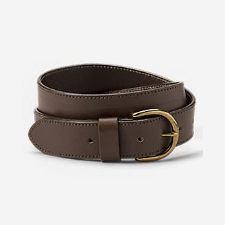 Women's Pebbled Jean Belt in Brown