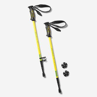 Trekking Poles - 1 Pair in Yellow