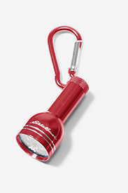 Carabiner Keychain 6 LED Light in Red