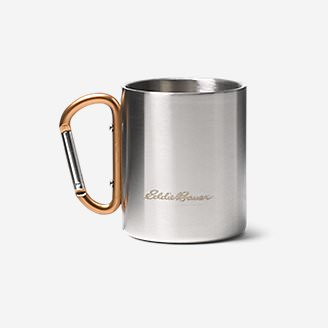 Eddie Bauer Double-Wall Cup w/ Carabiner in Orange