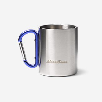 Eddie Bauer Double-Wall Cup w/ Carabiner in Blue