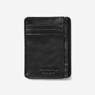 Travelon RFID Leather Card Holder in Black