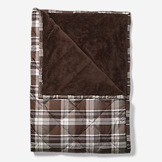 Oversized Down Throw in Brown