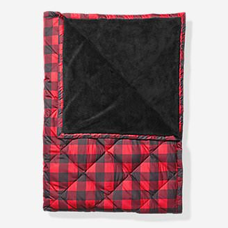Oversized Down Throw in Red