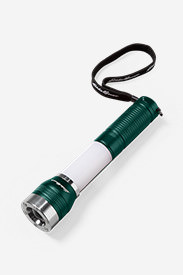 Aluminum Flashlight with Lanyard in Green