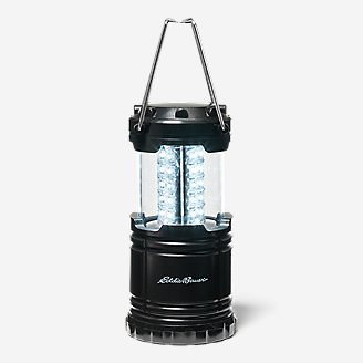 30-LED Pop-Up Lantern in Black