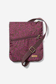 Connect 3-Zip Travel Bag in Purple