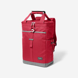 Bygone Backpack Cooler in Red