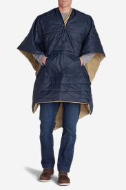 Stowaway Blanket Poncho in Blue