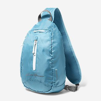 Stowaway Packable Sling Bag in Blue