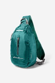 Stowaway Packable Sling Bag in Green