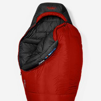 Kara Koram -30º StormDown Sleeping Bag in Red