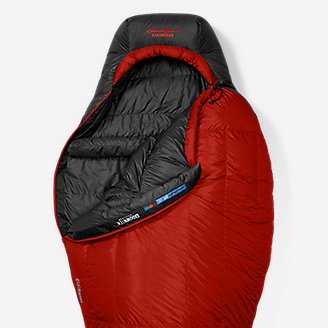 Kara Koram 0º StormDown Sleeping Bag in Red