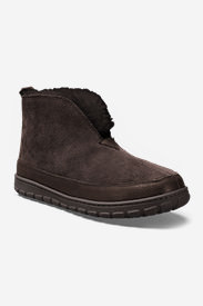 Men's Eddie Bauer Shearling Boot Slippers in Brown