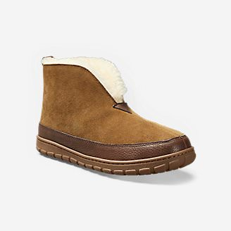 Men's Eddie Bauer Shearling Boot Slippers in Beige