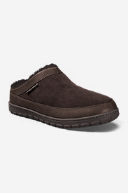 Men's Eddie Bauer Shearling Scuff Slippers in Brown