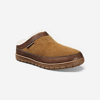 Men's Eddie Bauer Shearling Scuff Slippers in Beige