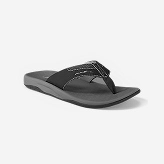 Men's Eddie Bauer Break Point Flip Flop in Black