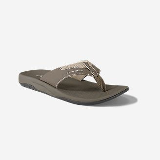 Men's Eddie Bauer Break Point Flip Flop in Beige