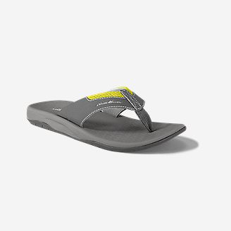 Men's Eddie Bauer Break Point Flip Flop in Gray