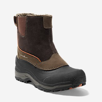 Men's Eddie Bauer Snowfoil Pull-On Boot in Brown