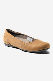 Women's Eddie Bauer Rush Leather Ballet in Beige