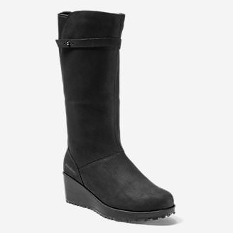 Women's Lodge Wedge Boot in Black