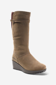Women's Lodge Wedge Boot in Brown