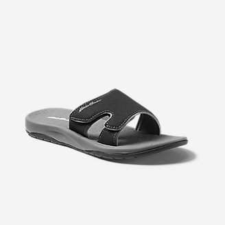 Women's Break Point Slide Sandal in Black